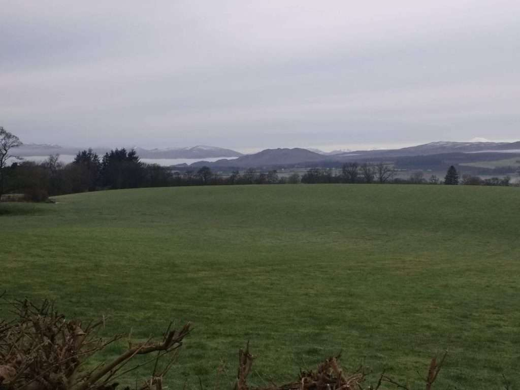 The Trossachs from the road to Balfron – photo by Sam Lyth
