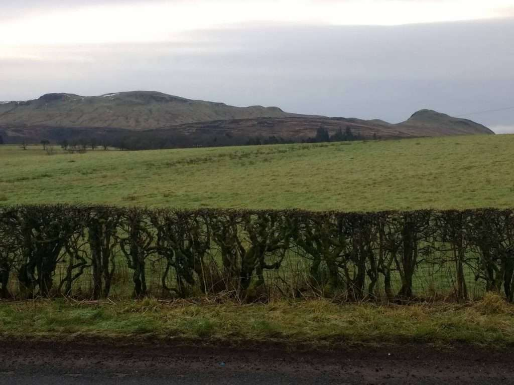 The Campsie Fells from the road to Balfron