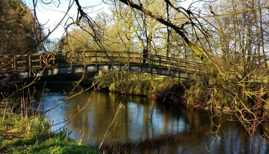 Footbridge over the River Endrick – photo by Sam Lyth